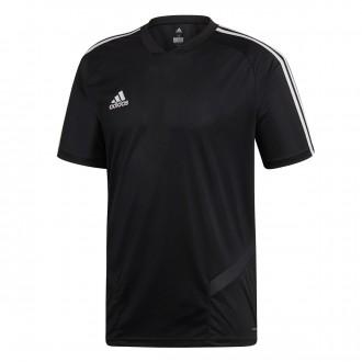 Camiseta  adidas Tiro 19 Training m/c Black-White