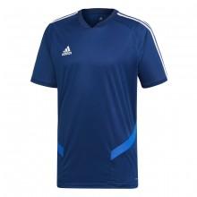 Camiseta Tiro 19 Training m/c Dark blue-Bold blue-White
