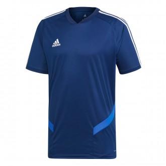 Camiseta  adidas Tiro 19 Training m/c Dark blue-Bold blue-White