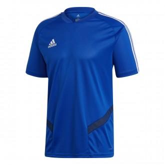 Camiseta  adidas Tiro 19 Training m/c Bold blue-Dark blue-White