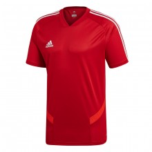 Camiseta Tiro 19 Training m/c Power red-White