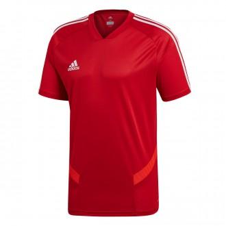 Camiseta  adidas Tiro 19 Training m/c Power red-White