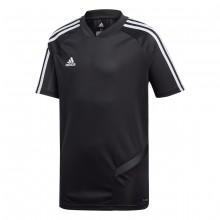 Camiseta Tiro 19 Training m/c Niño Black-White