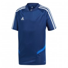 Camiseta Tiro 19 Training m/c Niño Dark blue-Bold blue-White