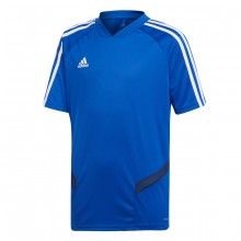 Camiseta Tiro 19 Training m/c Niño Bold blue-Dark blue-White