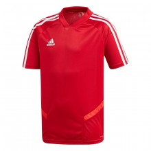 Camiseta Tiro 19 Training m/c Niño Power red-White