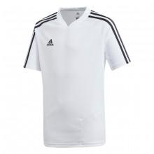 Camiseta Tiro 19 Training m/c Niño White-Black