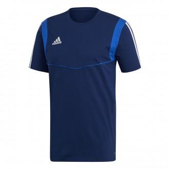 Camiseta  adidas Tiro 19 Tee m/c Dark blue-Bold blue