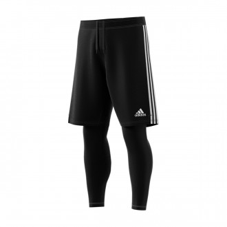 Pantaloncini  adidas Tiro 19 2in1 Black-White