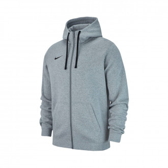 Casaco  Nike Club 19 Full-Zip Hoodie Crianças Dark grey heather-Dark steel grey-Black