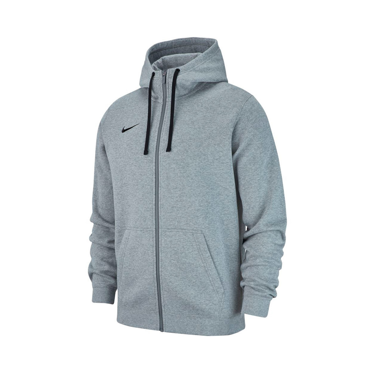 6087c255e1810 Chaqueta Nike Club 19 Full-Zip Hoodie Niño Dark grey heather-Dark steel  grey-Black - Tienda de fútbol Fútbol Emotion