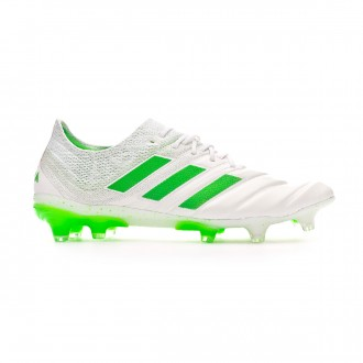 Football Boots  adidas Copa 19.1 FG White-Solar lime