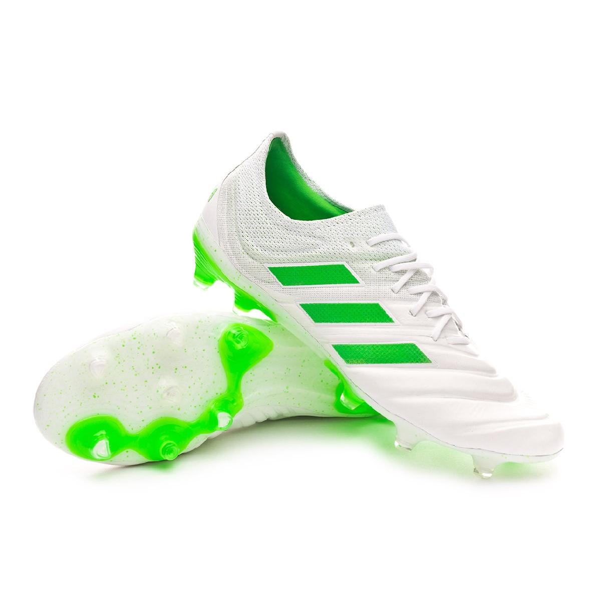 52204fe1f Football Boots adidas Copa 19.1 FG White-Solar lime - Football store Fútbol  Emotion