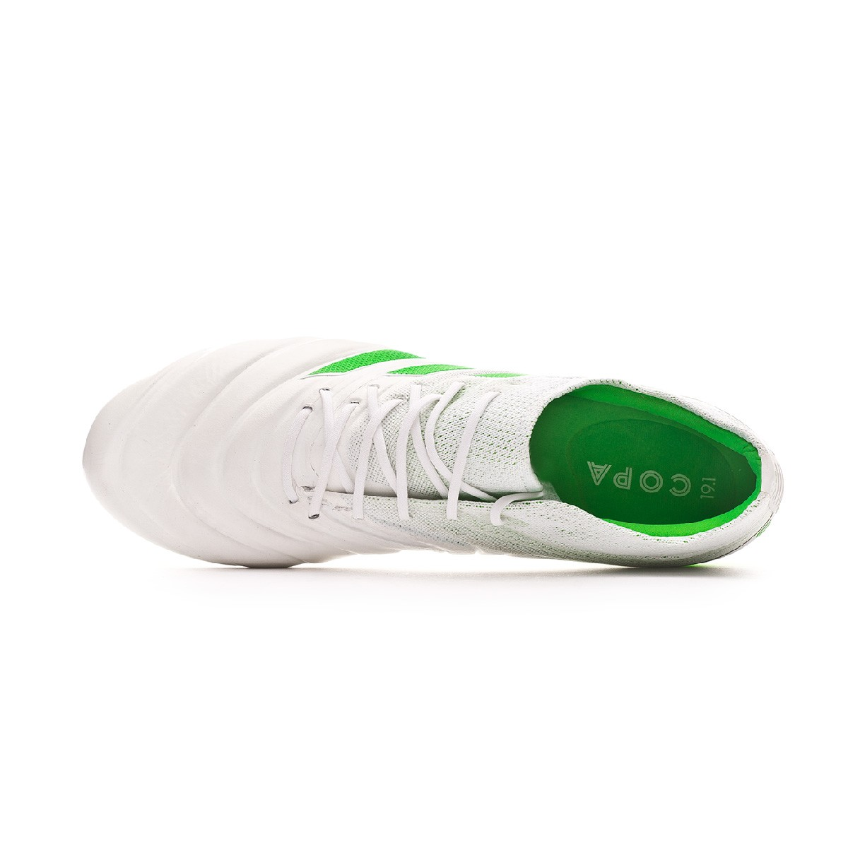 aacf9c834 Football Boots adidas Copa 19.1 FG White-Solar lime - Football store Fútbol  Emotion