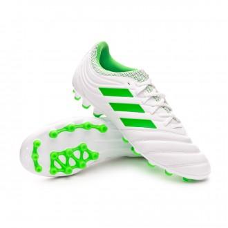 Football Boots  adidas Copa 19.3 AG White-Solar lime
