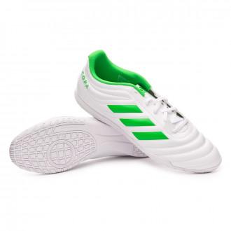 Futsal Boot  adidas Copa Tango 19.4 IN White-Solar lime