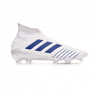 Chaussure de foot  adidas Predator 19+ FG White-Bold blue