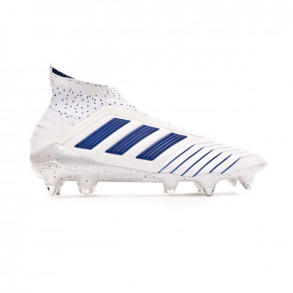 Zapatos de fútbol  adidas Predator 19+ SG White-Bold blue