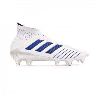 Chuteira  adidas Predator 19+ SG White-Bold blue