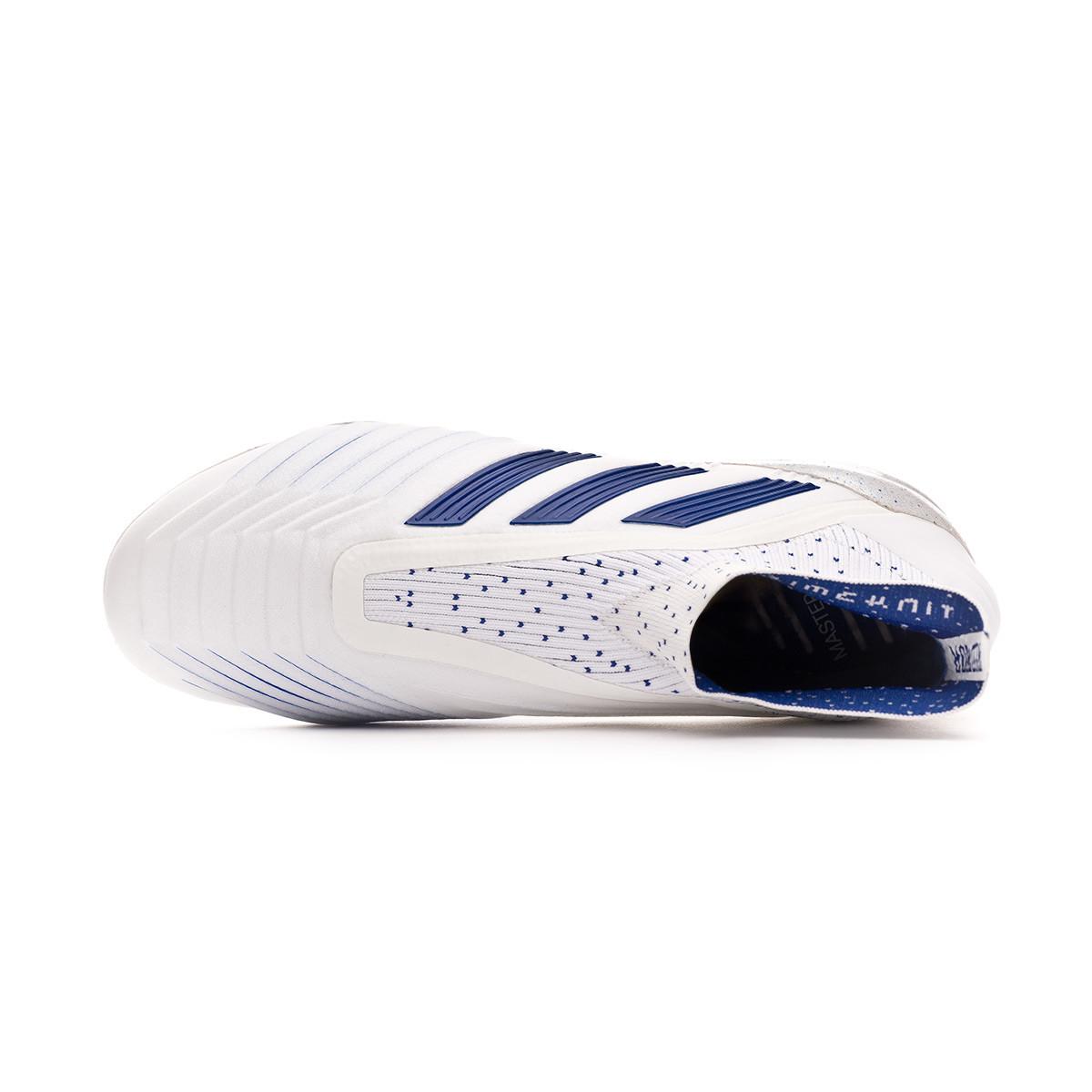 Chaussure de foot adidas Predator 19+ SG White Bold blue