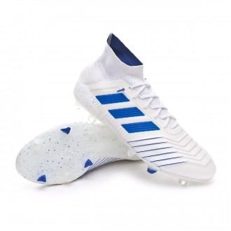 Football Boots  adidas Predator 19.1 FG White-Bold blue