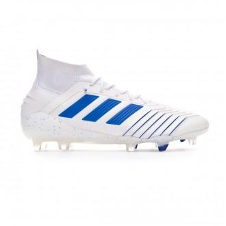 Chaussure de foot  adidas Predator 19.1 FG White-Bold blue