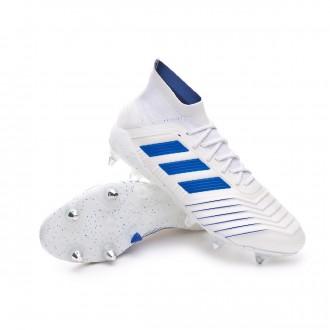 Football Boots  adidas Predator 19.1 SG White-Bold blue