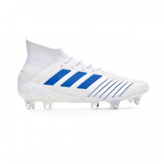 Zapatos de fútbol  adidas Predator 19.1 SG White-Bold blue