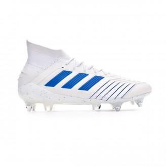 Chuteira  adidas Predator 19.1 SG White-Bold blue