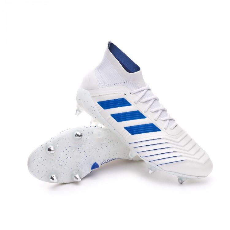 classcic molto carino qualità del marchio Football Boots adidas Predator 19.1 SG White-Bold blue - Football ...
