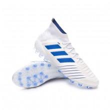 Bota Predator 19.1 AG White-Bold blue