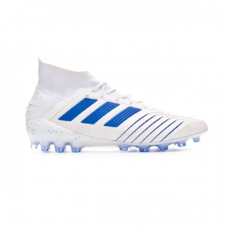 Chaussure de foot  adidas Predator 19.1 AG White-Bold blue