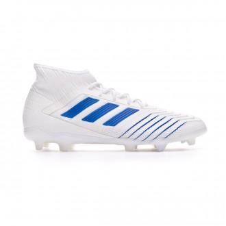 Chaussure de foot  adidas Predator 19.2 FG White-Bold blue