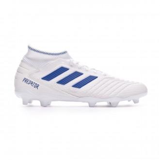 Chaussure de foot  adidas Predator 19.3 FG White-Bold blue