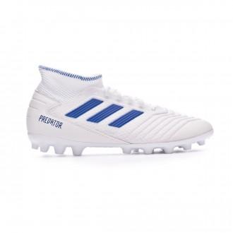 Chuteira adidas Predator 19.3 AG White-Bold blue
