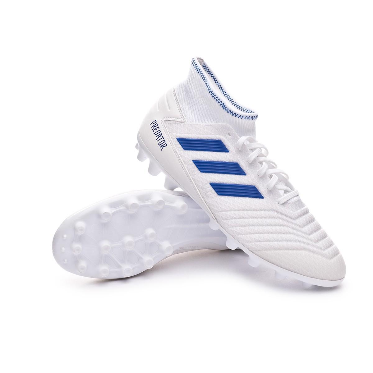 venta limitada Super baratas nuevo diseño Football Boots adidas Predator 19.3 AG White-Bold blue - Tienda de ...