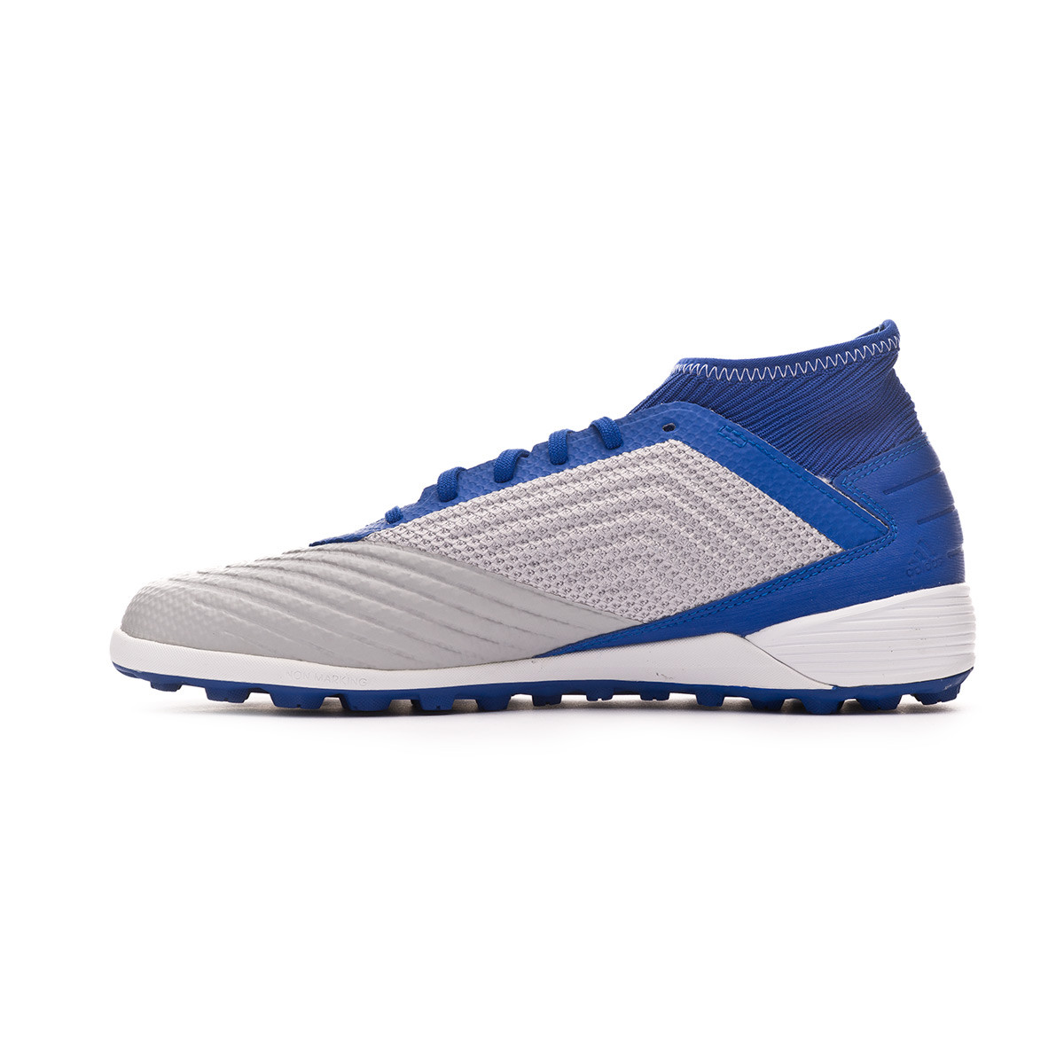50344cb40780 Football Boot adidas Predator Tango 19.3 Turf Grey two-White-Bold blue -  Football store Fútbol Emotion