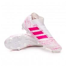 Football Boots Nemeziz 18+ FG White-Shock pink