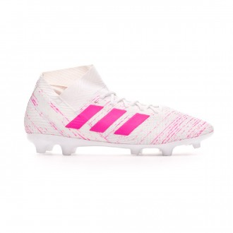 Chuteira adidas Nemeziz 18.3 FG White-Shock pink