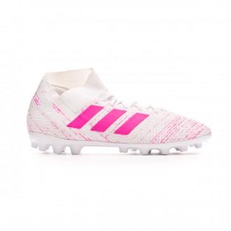 Chuteira adidas Nemeziz 18.3 AG White-Shock pink
