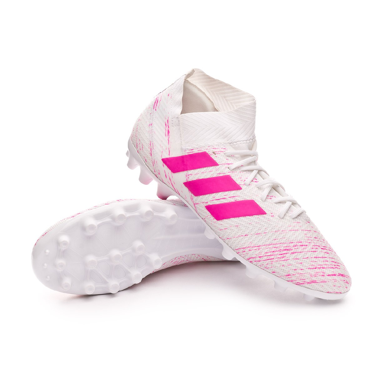 Sumergir Celsius Talentoso  Football Boots adidas Nemeziz 18.3 AG White-Shock pink - Football store  Fútbol Emotion