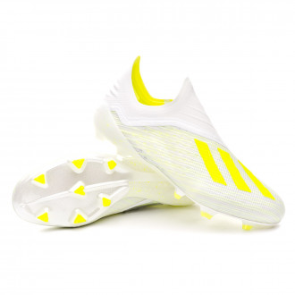 Football Boots  adidas X 18+ FG White-Solar yellow-Off white