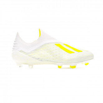 Chuteira  adidas X 18+ FG White-Solar yellow-Off white