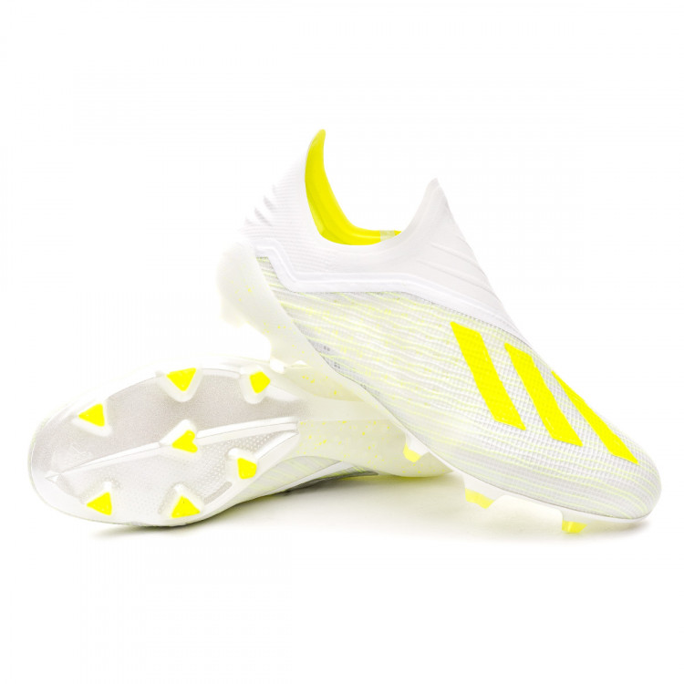 46cd9af4eca Football Boots adidas X 18+ FG White-Solar yellow-Off white - Nike ...