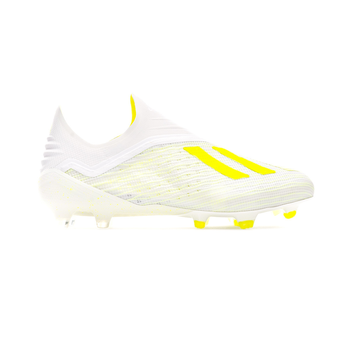 3e470e6155b Football Boots adidas X 18+ FG White-Solar yellow-Off white - Tienda de  fútbol Fútbol Emotion