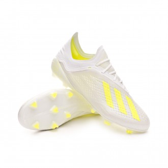 Football Boots  adidas X 18.1 FG White-Solar yellow-White