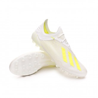 Football Boots  adidas X 18.1 AG White-Solar yellow-White