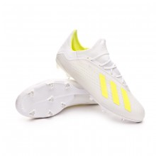 Zapatos de fútbol X 18.2 FG White-Solar yellow-White