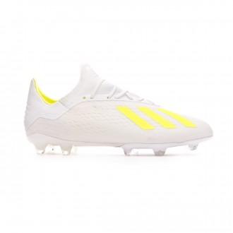 Bota adidas X 18.2 FG White-Solar yellow-White