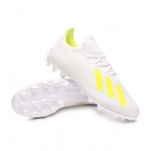 Football Boots X 18.3 AG White-Solar yellow-White